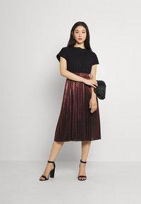 Molly Bracken - LADIES WOVEN SKIRT - A-line skirt - dark red - 1