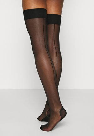 PLAIN TOP SEAMED STOCKINGS BLACK - Ponožky - black