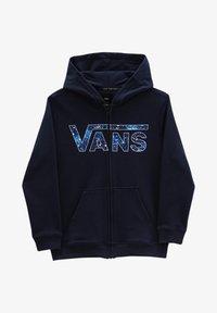 Vans - BY VANS CLASSIC ZIP HOODIE II BOYS - Tröja med dragkedja - dress blues/galactic glow - 3