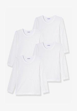 4-PACK - Long sleeved top - weiß
