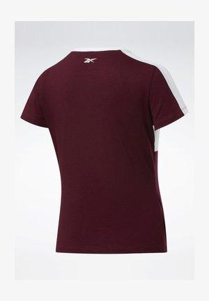 TRAINING ESSENTIALS LINEAR LOGO DETAIL T-SHIRT - T-Shirt print - burgundy