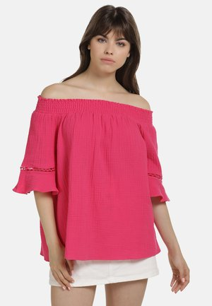 OFF-SHOULDER BLUSE - Blouse - pink