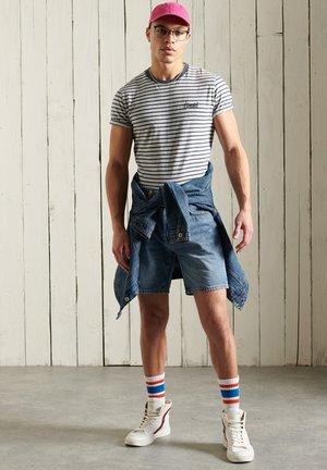 T-shirt print - navy stripe