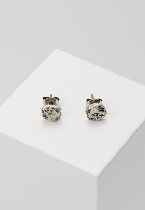 MOON ROCK STUD EARRINGS - Earrings - silver-coloured