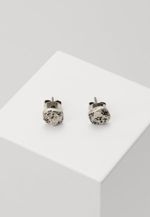 MOON ROCK STUD EARRINGS - Orecchini - silver-coloured