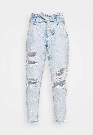 PAPERBAG MOM - Slim fit jeans - broken glass blue