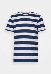 HEATHER STRIPE TEE - T-shirt med print - twilight navy