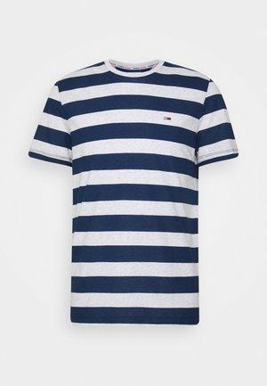 HEATHER STRIPE TEE - Print T-shirt - twilight navy