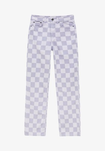 SCHACHBRETTMU - Trousers - mottled lilac