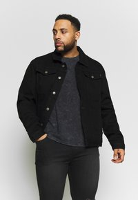 Common Kollectiv - PLUS DISTRESSED JACKET - Denim jacket - black - 0