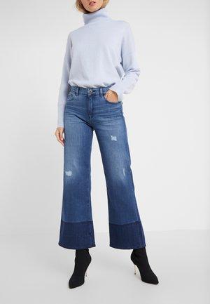 Flared Jeans - denim blu