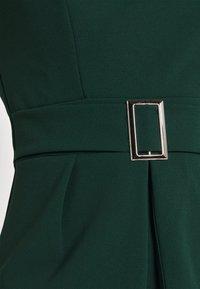 WAL G. - PEPLUM BUCKLE MIDI DRESS - Cocktail dress / Party dress - forest green - 5