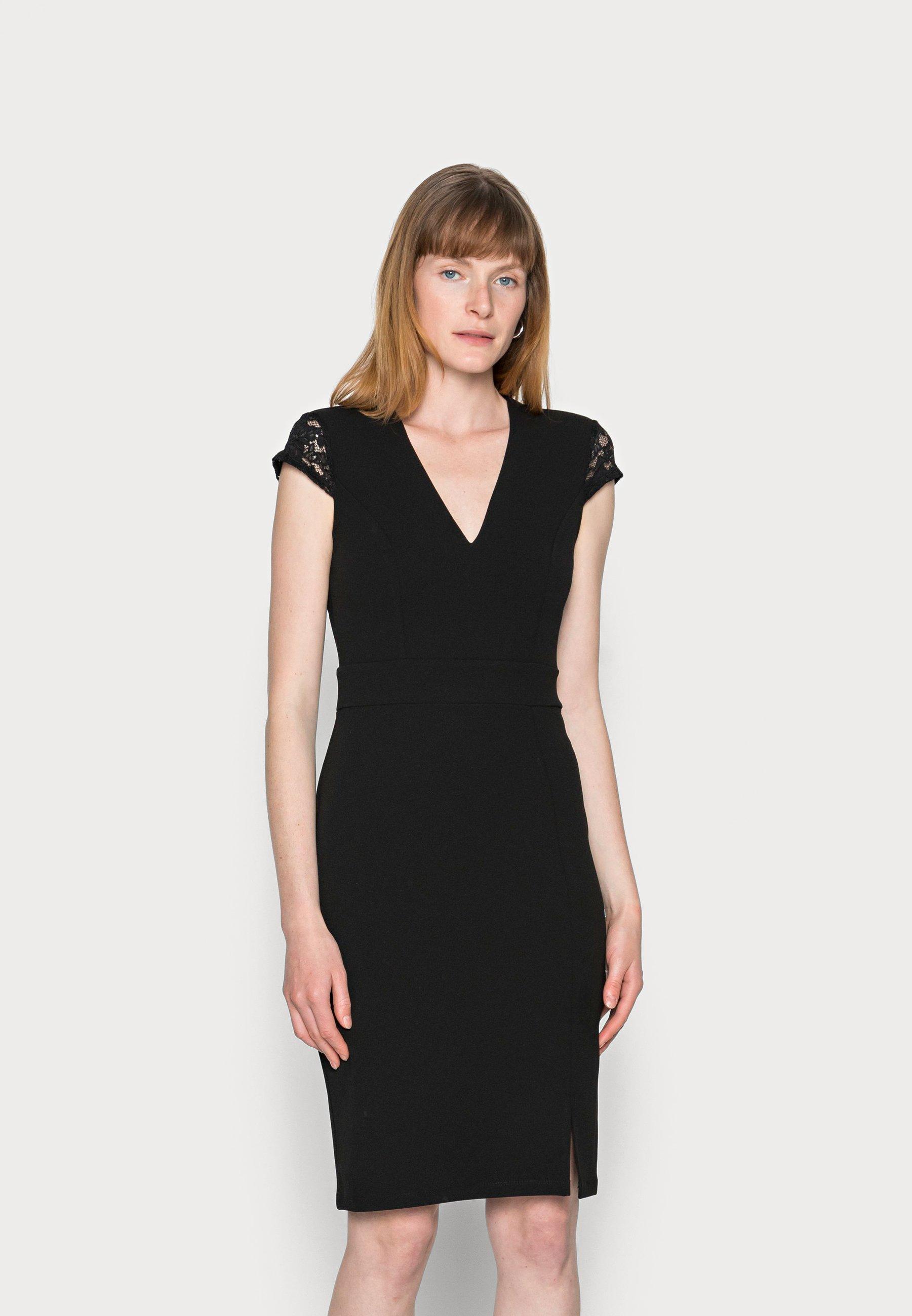 Damen LACE CAP SLEEVES POLYCREPE OCCASION MINI DRESS (AN-AW21-C007-SJ) - Cocktailkleid/festliches Kleid