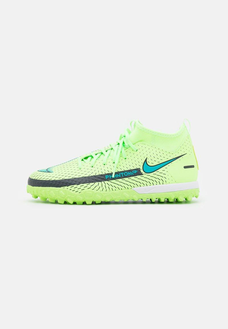 Nike Performance - JR PHANTOM GT ACADEMY DF TF UNISEX - Kopačky na umělý trávník - lime glow/aquamarine