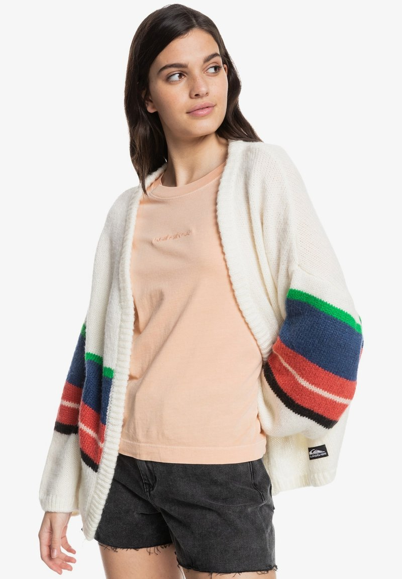Quiksilver - OUTER SUNSET EQWSW03007 - Cardigan - white str outer sunset