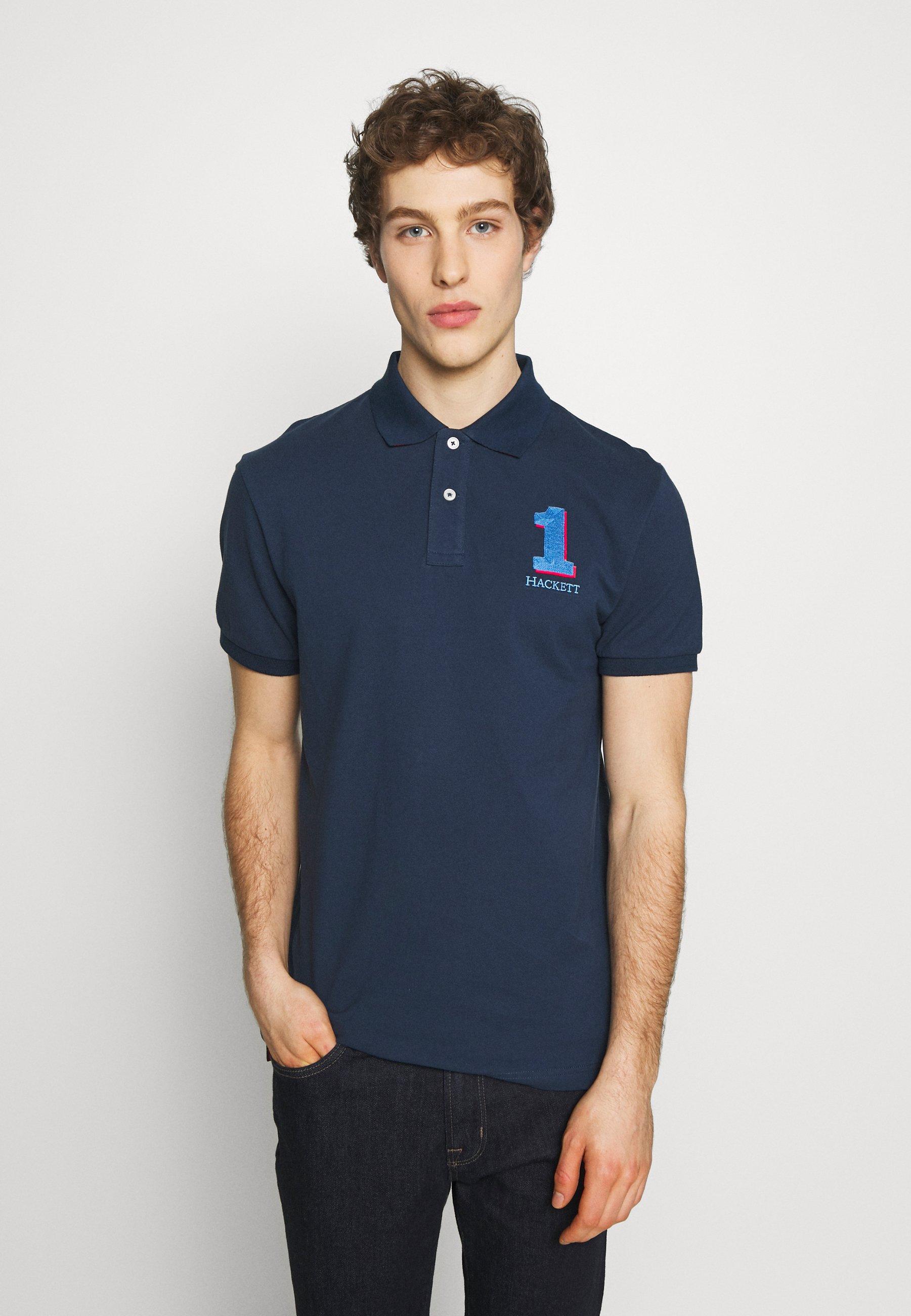 Cena fabryczna Gorąca wyprzedaż Hackett London NEW CLASSIC FIT - Koszulka polo - navy | Odzież męska 2020 fRQ1S