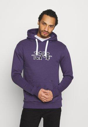 APPLIQUE HOODIE - Mikina - purple