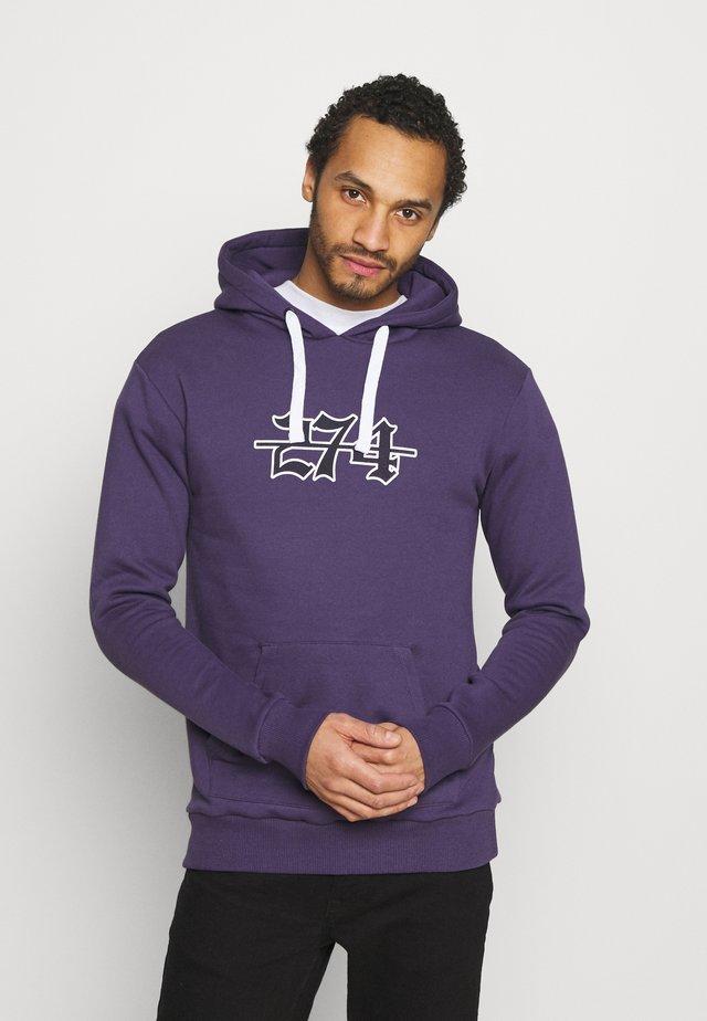 APPLIQUE HOODIE - Sweatshirt - purple
