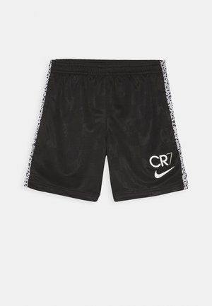 CR7 DRY SHORT - Sports shorts - black/total orange