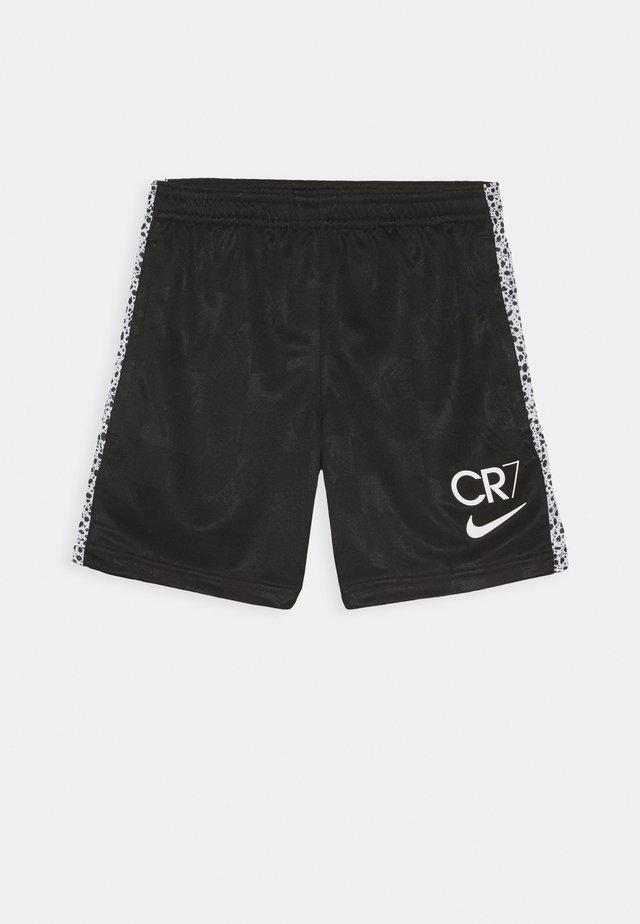 CR7 DRY SHORT - Sportovní kraťasy - black/total orange