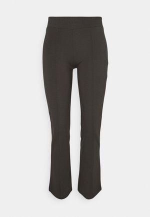 PCKLARA FLARED PANTS  - Trousers - black olive