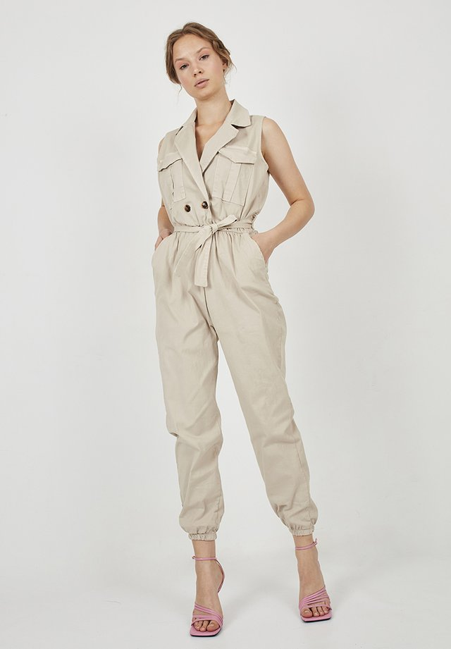 DESFLECADO - Jumpsuit - beige