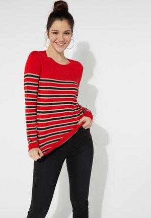 GESTREIFTES LANGARM - Sweatshirt - red lipstick