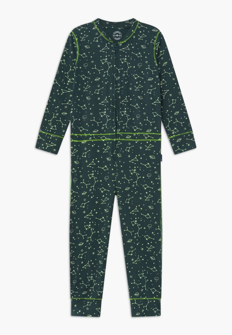 Claesen's - BOYS ONEPIECE - Pyjamas - dark green/light green