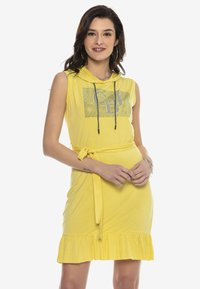Cipo & Baxx - Jersey dress - yellow - 0