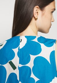 Marimekko - LAINEET PIENI UNIKKO DRESS - Vestido informal - blue/black/off-white - 6