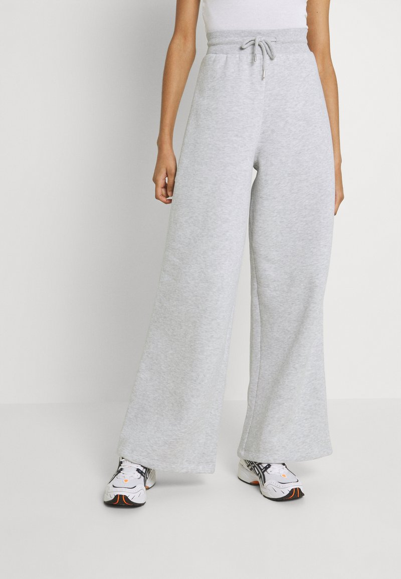 Nly by Nelly - MY BEST PANTS - Tracksuit bottoms - grey melange
