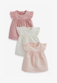 Next - 3 PACK  - T-shirts print - pink - 0