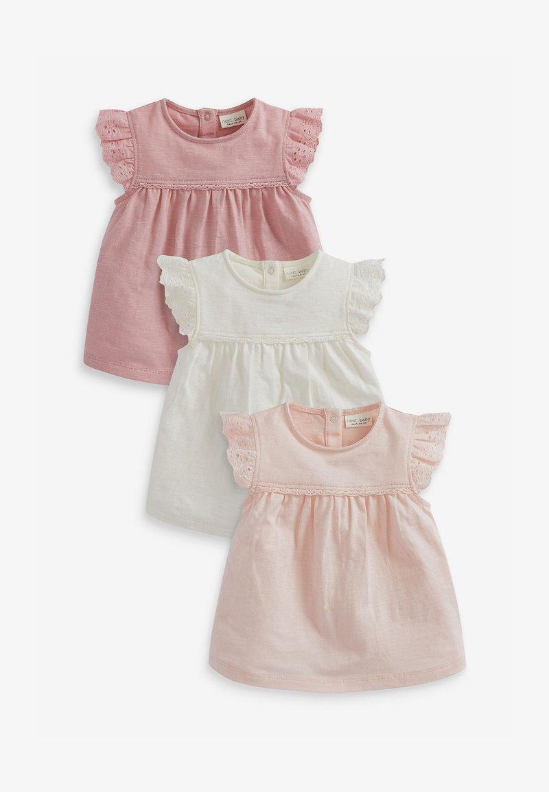 Next - 3 PACK  - T-shirts print - pink