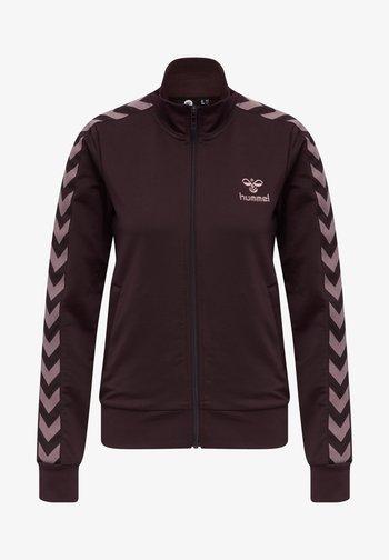 Zip-up sweatshirt - fudge