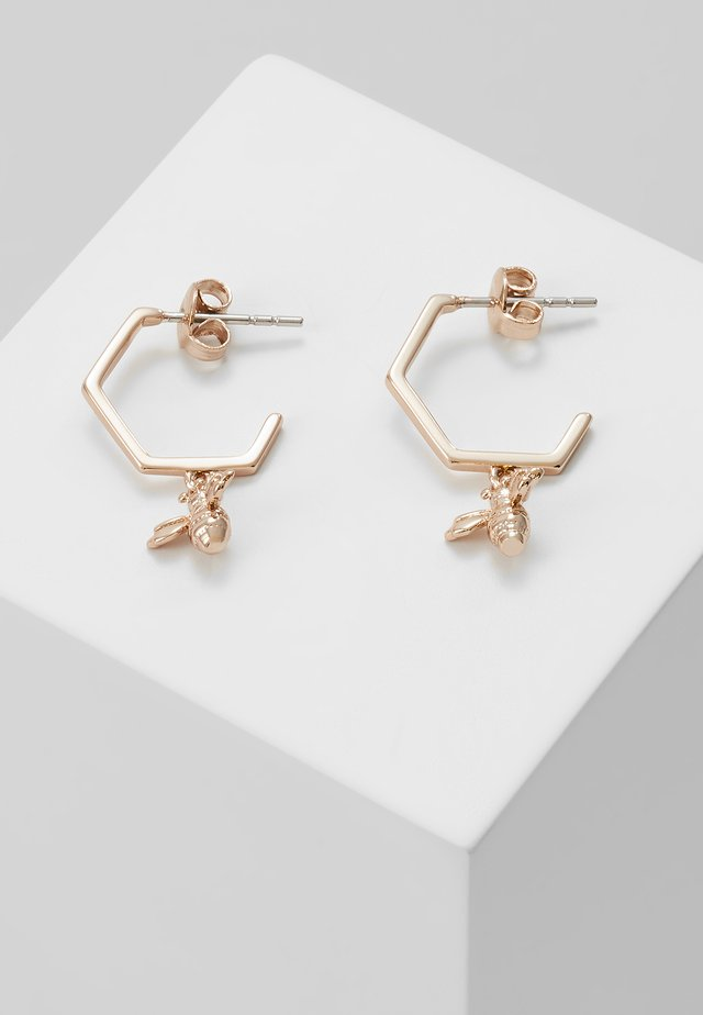 BEDZA BUMBLE BEE HOOP EARRING - Pendientes - rose gold-coloured