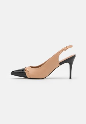 CANNON - High heels - black/beige