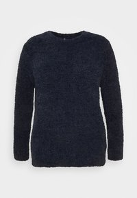 CAPSULE by Simply Be - TEDDY CREW NECK - Svetr - navy - 4