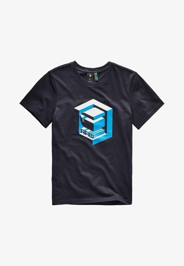 IMPRIMé GRAPHIQUE MC - T-shirt imprimé - navy blue