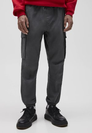 Pantaloni cargo - mottled light grey