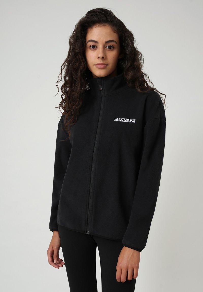 Napapijri - T-BOX FULL ZIP - Fleece jacket - black 041