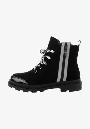 ASTIONE - Šněrovací kotníkové boty - black