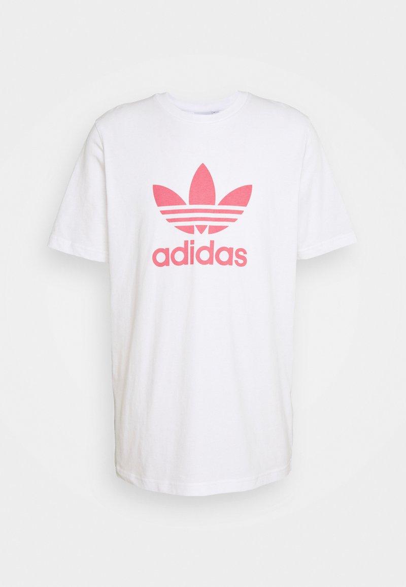 adidas Originals - TREFOIL UNISEX - T-shirt med print - white/hazy rose