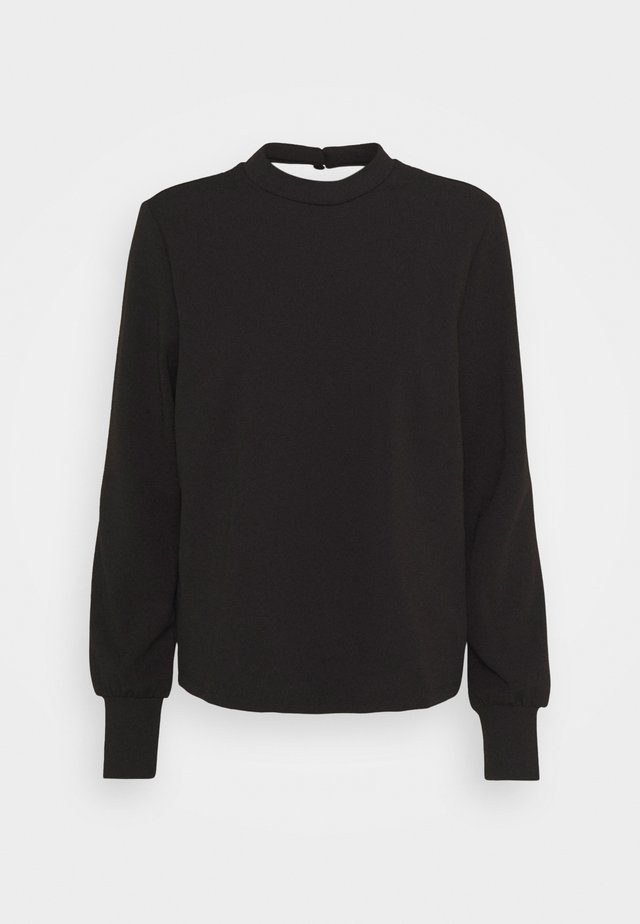 VIRILINI BACK - Maglietta a manica lunga - black