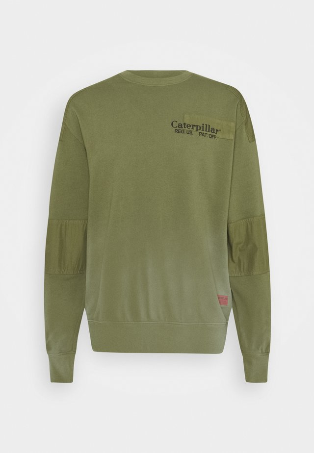 PATCHED ROUNDNECK - Sweatshirts - green