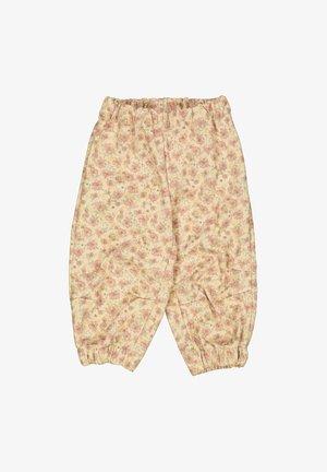 JEAN - Trousers - soft beige flowers