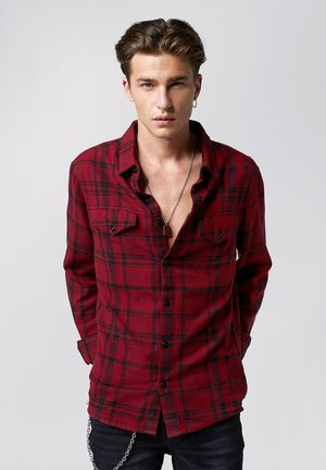 NATSU - Shirt - dark red black