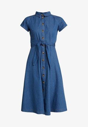 OLIVE DRESS - Denim dress - river blue