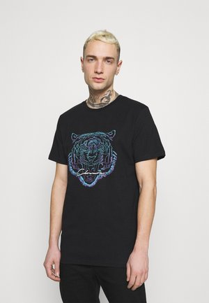 FADE FURY TEE - Print T-shirt - black