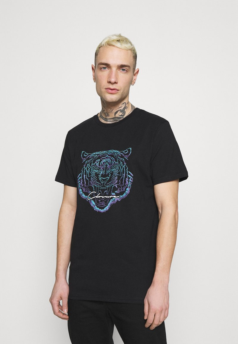 CLOSURE London - FADE FURY TEE - Print T-shirt - black