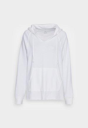 SPLIT NECK HOODIE - Sweatshirt - true white